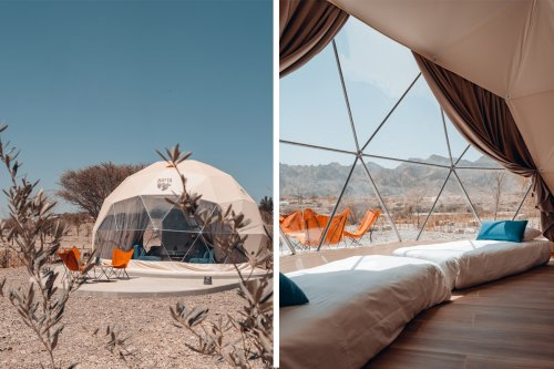 Check out these new dome tents at Hatta Dome Park