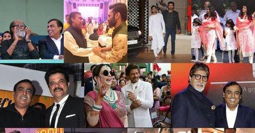 10 throwback photos of Bollywood celebs from lavish bashes thrown by Mukesh Ambani and family