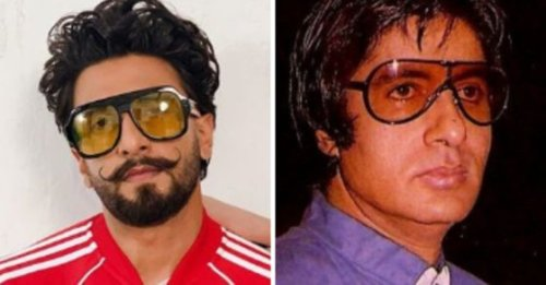 Ranveer Singh's reaction is priceless as Amitabh Bachchan dons funky sunglasses in throwback photo