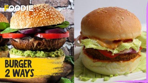 Burger 2 Ways | Veggie Mushroom Burger | Aloo Tikki Burger | The Foodie