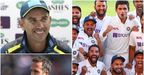 Justin Langer responds to Michael Vaughan's 'no shame in losing to India's 3rd XI' remark