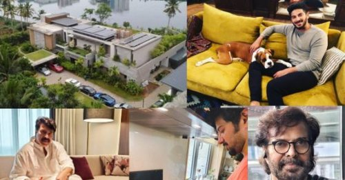 Photos and videos that give you a tour inside Mammooty, son Dulquer Salman's luxurious Kochi home