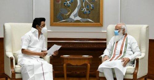 Tamil Nadu: CM MK Stalin hands over memorandum with 25 demands to PM Modi during his 1st meeting