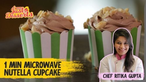 1 Min Microwave Nutella Cupcakes   Just Desserts   The Foodie
