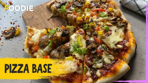 Pizza Base | Mushroom & Pepper Pizza | Friendship Day Special | The Foodie
