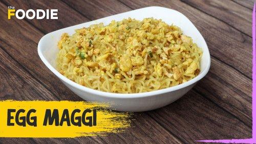 Egg Maggi Recipe | How To Make Egg Maggi | Egg Bhurji Maggi | The Foodie