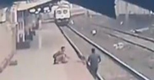 Real hero! Pointsman saves child from getting crushed under train in Mumbai – WATCH