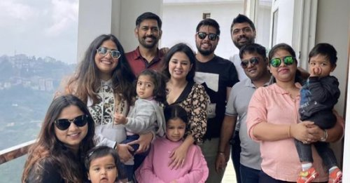 MS Dhoni visits Shimla for a family vacation; pics go viral as former India captain sports new look