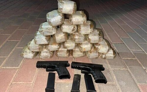 IDF, police foil gun, drug smuggling operation; Hezbollah involvement suspected