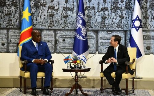 In Israel, Congolese president says seeking 'closer security, agriculture ties'