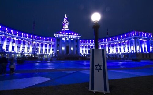 World landmarks light up in blue and white in honor of Israel's Independence Day