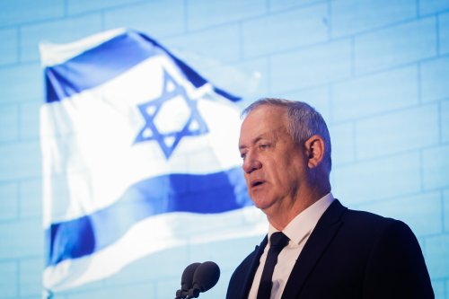 At Lebanon war memorial, Gantz says next conflicts likely to need ground troops