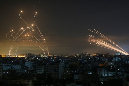 Deadly duel: Photos capture battle between Iron Dome and Hamas rockets