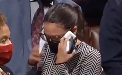 AOC seen visibly shaken after casting vote to abstain on Iron dome funding bill