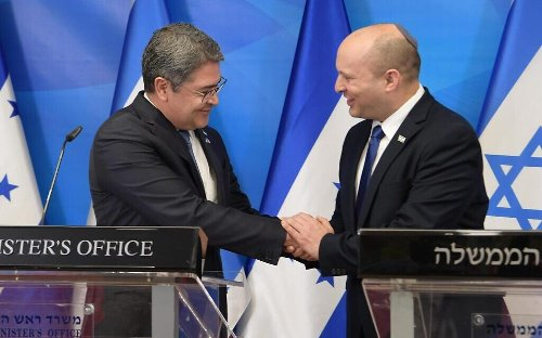 Honduran president meets Bennett before inauguration of new embassy in Jerusalem