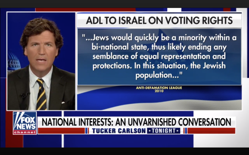 Why Tucker Carlson, white supremacists have eyes on Israeli immigration policy
