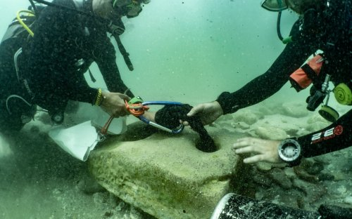 Ancient stone anchor used for 2,000 years found on Israel's northern coast
