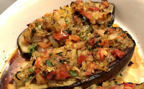 Stuffed Turkish eggplant as a main dish or side
