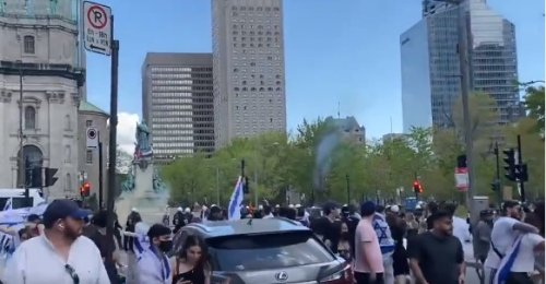 Canadian police use tear gas as Israel rally attacked by pro-Palestinians
