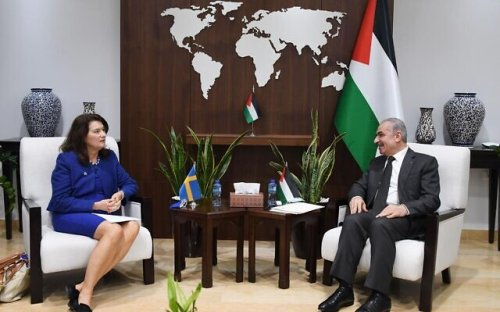 Swedish FM censures 'corruption in Palestine' during meetings with PA leaders