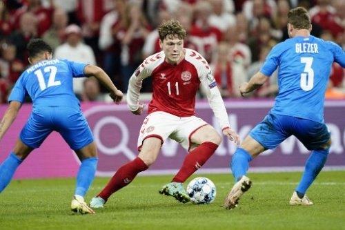 Denmark thrash Israel 5-0 to dent World Cup soccer qualifying chances
