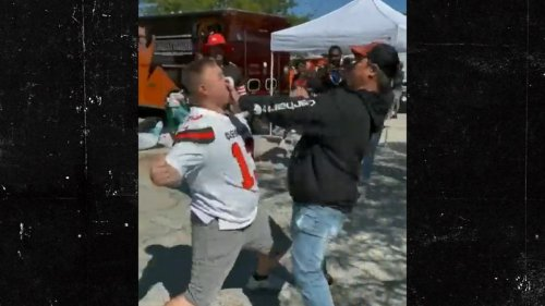 Cleveland Browns Fans Throw Violent Punches In Melee ... At Pregame Tailgate
