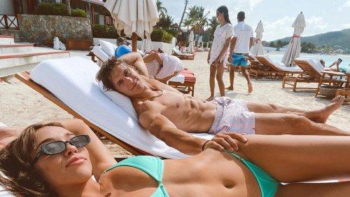 Sophia Culpo, Braxton Berrios Show Off Shredded Beach Bods ... On Island Baecation
