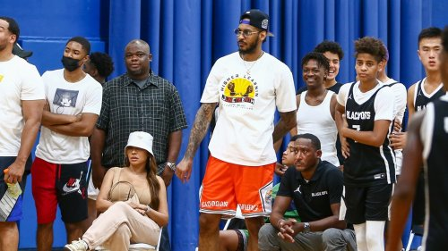 La La & Carmelo Anthony United Front After Divorce Attend Son's BBall Game