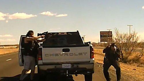 NM State Police Officer Killed by AR-15 Toting Drug Dealer ... Dashcam Vid Released