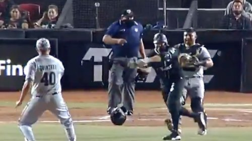 Mexican Baseball League Hitter Attacks Pitcher With Bat And Helmet ... In Insane Brawl