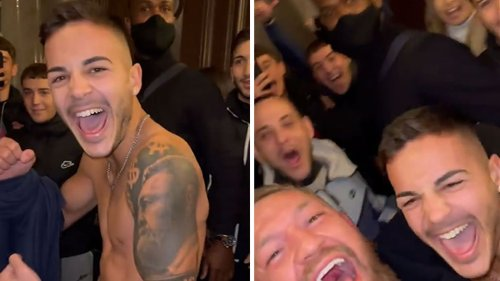 Conor McGregor Bros Down With Fan ... Sick Tattoo, My Man!!!