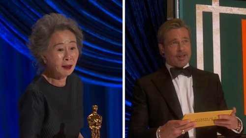 Brad Pitt Dissed at Oscars by 'Minari' Star Nice to Meet You, But ...
