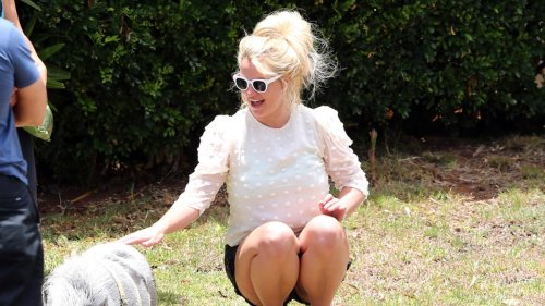 Britney Spears Piggin' out ... Makes Potbellied Pal