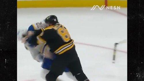 Boston's Kevan Miller Obliterates Tage Thompson ... In Violent Hockey Fight