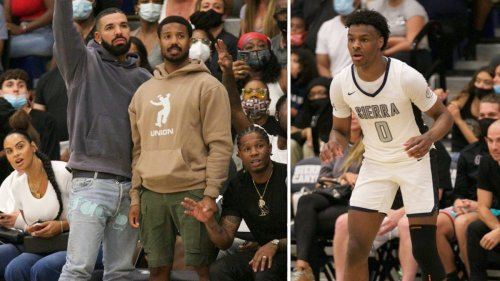 Drake & Michael B. Jordan We're Here to See Bronny James!!! Courtside for HS Hoops