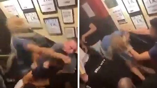 Nellie's Sports Bar Woman Dragged Threw Punches ... Team Says in Defense