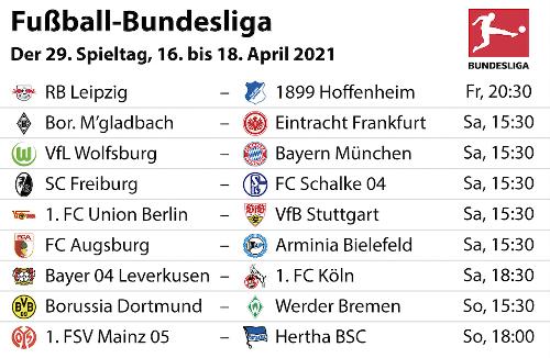 Bundesliga 2020/21: Unsere Tipps zum 29. Spieltag – mit voraussichtlichen Aufstellungen