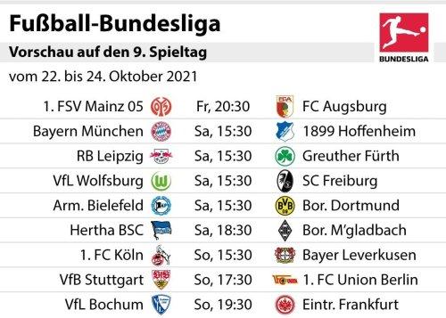 Bundesliga 2021/22: Unsere Tipps zum 9. Spieltag – und die Aufstellungen