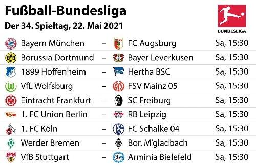 Bundesliga 2020/21: Unsere Tipps zum 34. Spieltag – und voraussichtliche Aufstellungen