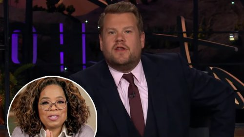 James Corden Calls Oprah to Pitch Her Business Idea, Almost Reveals Her Number On Air
