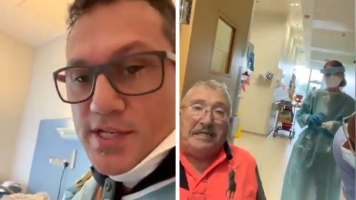 Watch Covid-Denier Convince Elderly Man Who Can Barely Breathe to Leave Hospital: 'They're Going to F---ing Kill You'