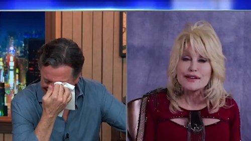 Dolly Parton Brings Stephen Colbert to Tears Performing Impromptu Folk Song