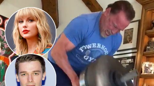 Arnold Schwarzenegger Pumps Iron to Taylor Swift -- And His Son Patrick Can't Get Enough of It