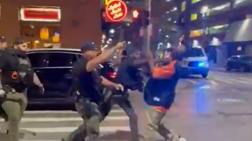 Detroit Police 'Reviewing' Viral Video of Officer Knocking Man Out With Sucker Punch