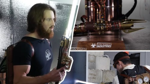 Weaponsmiths Create Retractable Plasma Lightsaber That Can Slice Through Metal