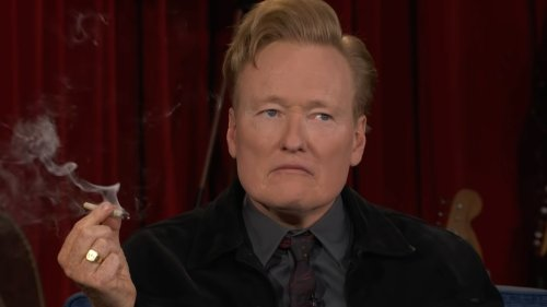 Conan O'Brien Burns Up His Last Week on TBS By Smoking Weed with Seth Rogen