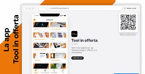 La web app di Toolperstartup: Tool in offerta