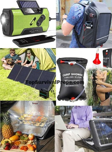 Top 10 Portable Solar Panels & Products For Doomsday Preppers, Survival, SHTF, Camping, Hiking & Emergencies In 2021 - TopSurvivalPreps.com