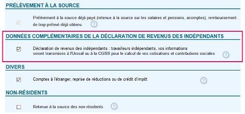 Déclaration revenus indépendants 2042 Urssaf 2021 (DRI, ex-DSI)