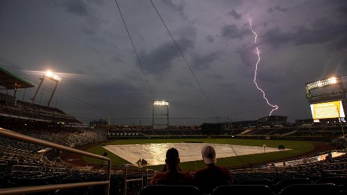 Photos: Weather delays College World Series Thursday June 24
